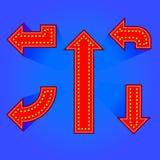 Flecha eléctrica del letrero Imagen de archivo