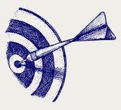 Flecha en blanco Fotos de archivo libres de regalías