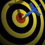 Flecha en blanco Fotografía de archivo libre de regalías