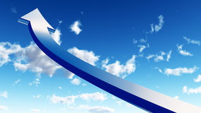 Flecha en el cielo Imagen de archivo libre de regalías