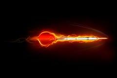 Flecha en el movimiento ilustración del vector