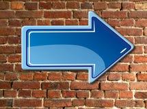 Flecha en la pared Imagen de archivo libre de regalías