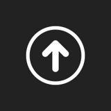 Flecha encima del icono del vector Ejemplo delantero de la muestra de la flecha stock de ilustración