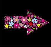 Flecha floral stock de ilustración