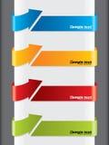 Flecha formada haciendo publicidad de escrituras de la etiqueta Imagenes de archivo