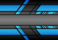 Flecha futurista abstracta del gris azul con vector moderno del fondo de la tecnología del diseño en blanco del centro espacial Foto de archivo libre de regalías