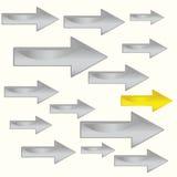 Flecha, gráficos de la dirección 3D ilustración del vector