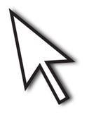 Flecha grande del cursor Imagen de archivo libre de regalías