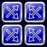 Flecha Iconos del metal Imagen de archivo libre de regalías