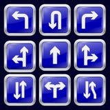 Flecha Iconos del metal Imágenes de archivo libres de regalías