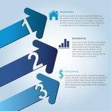 Flecha Infographic Imagen de archivo