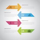 Flecha Infographic Imagen de archivo libre de regalías