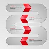 Flecha infographic de la serpiente del ejemplo del vector Libre Illustration