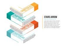 Flecha Infographic de las escaleras Fotografía de archivo