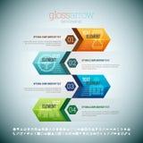 Flecha Infographic del lustre Fotos de archivo libres de regalías