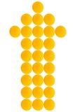 Flecha larga anaranjada Fotografía de archivo