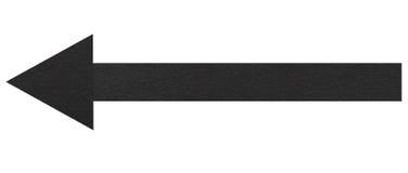 Flecha negra imágenes de archivo libres de regalías