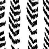 Flecha negra hecha a mano pintada textura inconsútil Imagen de archivo