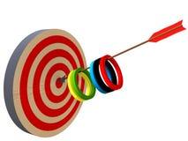 Flecha olímpica ilustración del vector