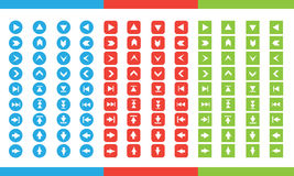 Flecha plana del icono del sistema Fotos de archivo libres de regalías