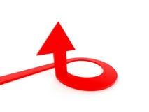 Flecha que apunta arriba Fotografía de archivo