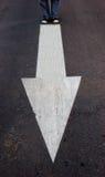Flecha que muestra una manera Fotografía de archivo libre de regalías