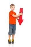 Flecha que señala abajo Imagen de archivo libre de regalías