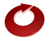 flecha redonda 3D Fotos de archivo