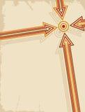 Flecha retra Fotos de archivo libres de regalías