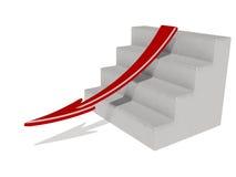 Flecha roja Imagen de archivo