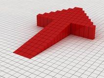 Flecha roja stock de ilustración