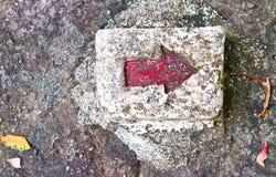 Flecha roja Imagenes de archivo