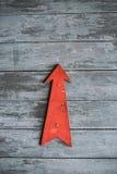Flecha roja Fotografía de archivo libre de regalías
