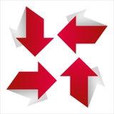 Flecha roja con la sombra Fotos de archivo libres de regalías