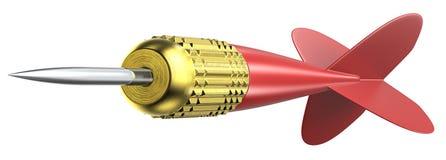 Flecha roja del dardo Imagen de archivo libre de regalías