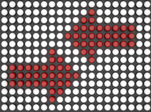 Flecha roja doble Imagenes de archivo