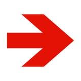 Flecha roja en el fondo blanco Imágenes de archivo libres de regalías