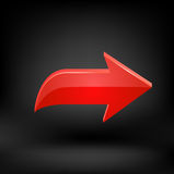 Flecha roja Vector Fotografía de archivo libre de regalías