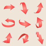 Flecha roja Vector Imagen de archivo libre de regalías