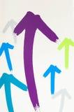 Flecha simple Fotos de archivo