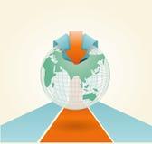 Flecha suave del infographics del color stock de ilustración