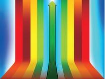 Flecha tirada encima de color Fotografía de archivo libre de regalías