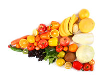 Flecha vegetariana imagenes de archivo