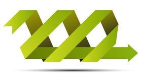 Flecha verde de la cinta Fotografía de archivo libre de regalías