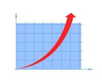 Flecha y diagrama Imagen de archivo libre de regalías