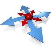 Flechas-1 Imágenes de archivo libres de regalías