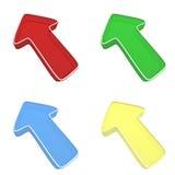 flechas 3D Imagen de archivo