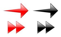 Flechas 3d Fotos de archivo