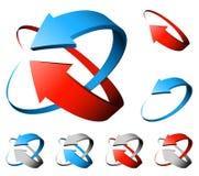 flechas 3D ilustración del vector