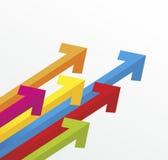 flechas Imagen de archivo libre de regalías